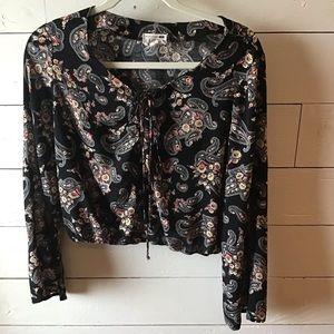 LA Hearts longsleeve blouse L